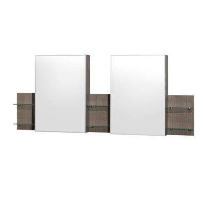 Amare 72 in. W x 30 in. H Framed Wall Mirror in Gray Oak