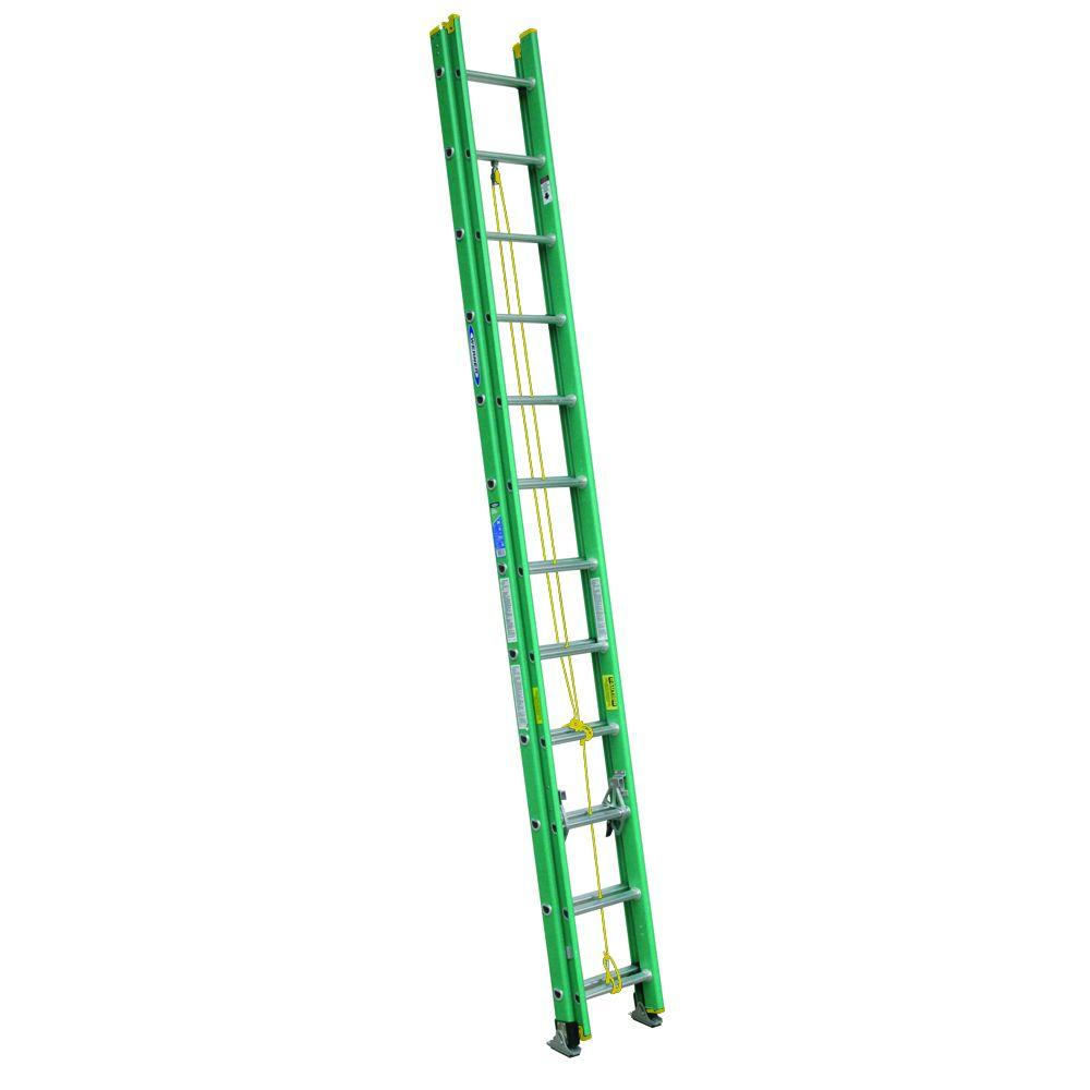 24 ft. Fiberglass D-Rung Extension Ladder with 225 lb. Load Capacity