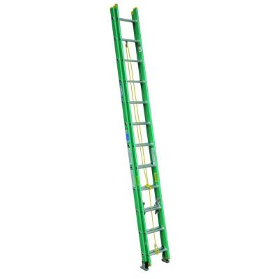 24 ft. Fiberglass D-Rung Extension Ladder with 225 lb. Load Capacity Type II Duty Rating