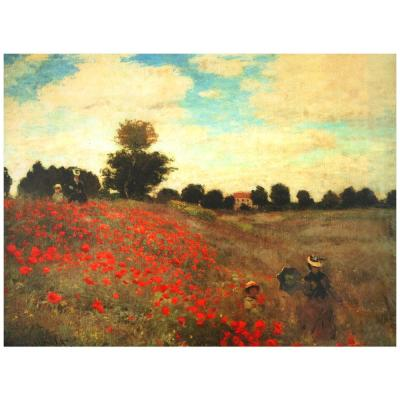 """Oriental Furniture 24 in. x 32 in. """"Poppies"""" Canvas Wall Art"""
