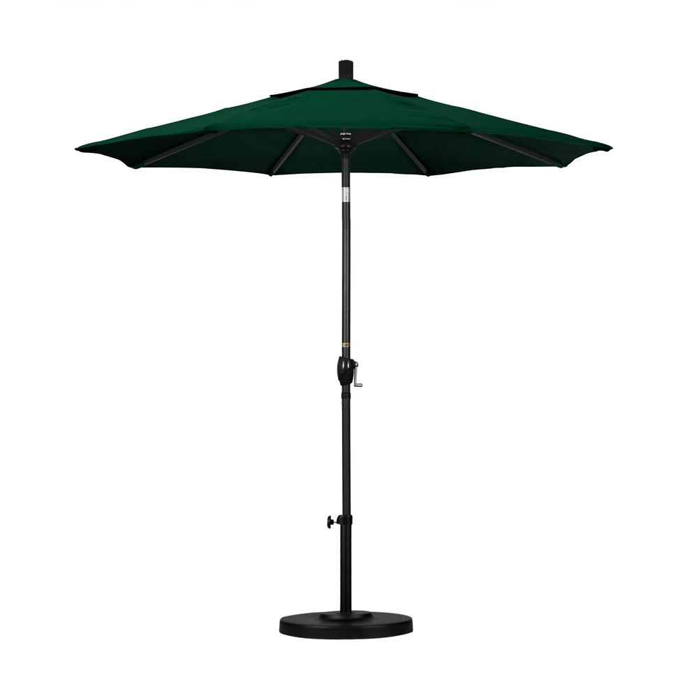 7-1/2 ft. Fiberglass Push Tilt Patio Umbrella in Hunter Green Olefin