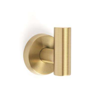 Arrondi Wall Mount Single Robe Hook in Brushed Bronze/Golden Champagne
