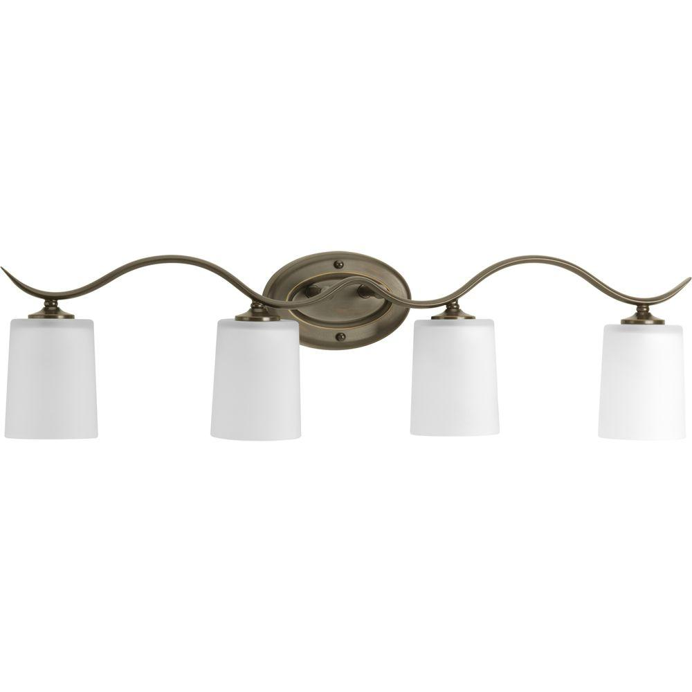 Progress Lighting Inspire Collection 31.38 in. 4-Light Brushed ...