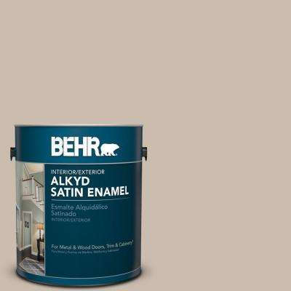 1 gal. #PPU5-13 Creamy Mushroom Satin Enamel Alkyd Interior/Exterior Paint