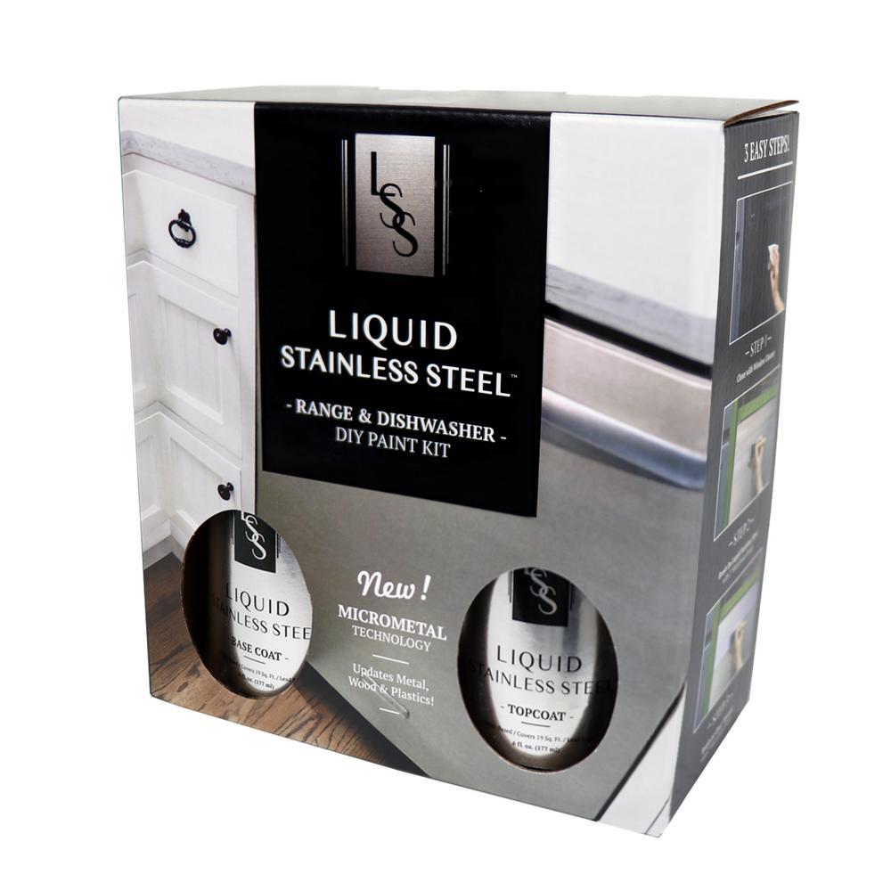 Giani Liquid Stainless Steel 12 Oz Liance Paint Kit Fg Rdkit 19 Sq Ft The Home Depot