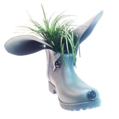 11 in. Charlie the Boot Buddies Dog Sculpture and Planter Home and Garden Loyal Companion Figurine