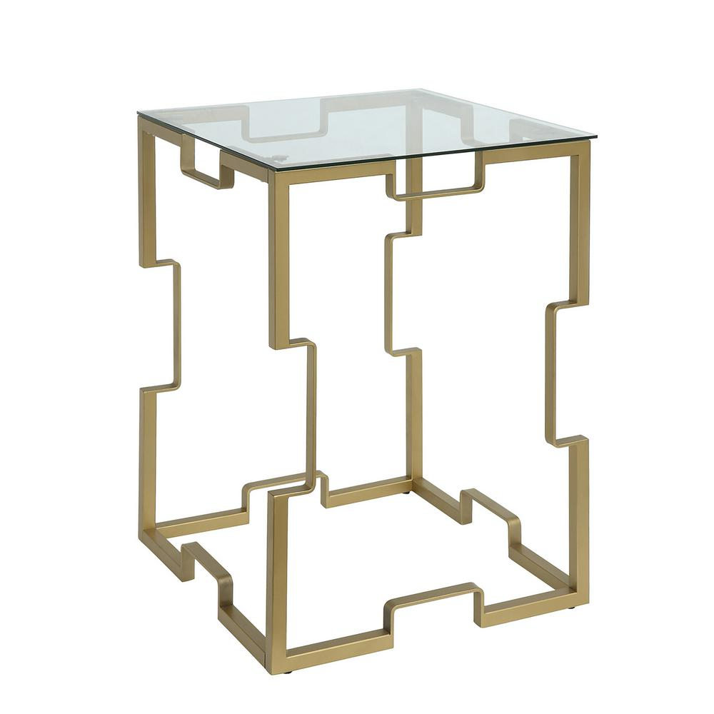 Square Gl End Tables Table Design Ideas