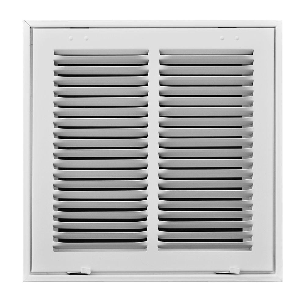 "ceiling 20/"" X 12 Steel Return Air Filter Grille for 1/"" Filter Fixed Hinged"