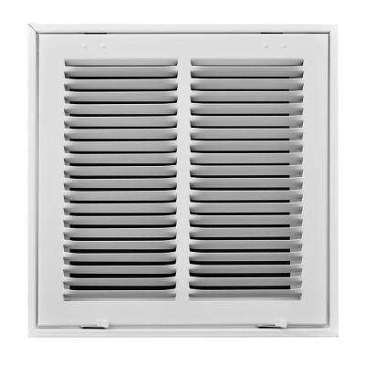 12 in. x 12 in. White Return Air Filter Grille