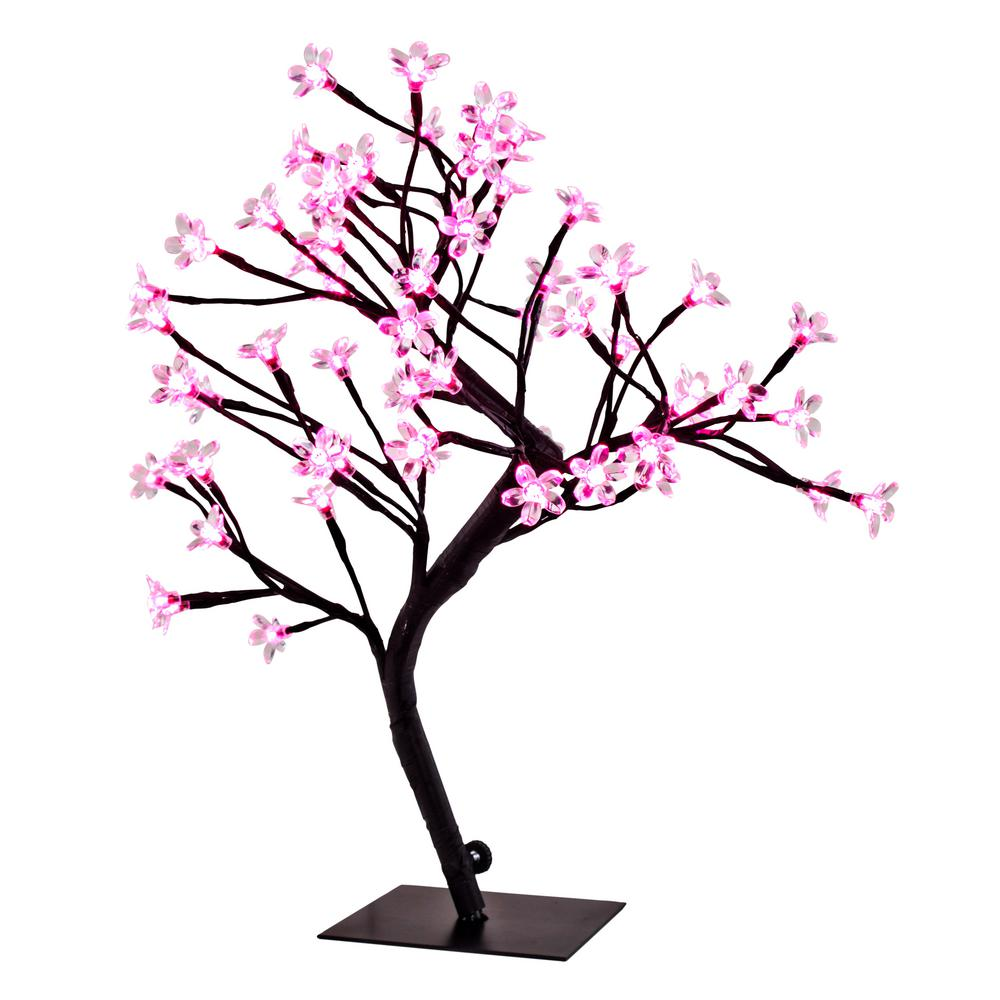 Pink Cherry Blossom Tree Accent Lamp
