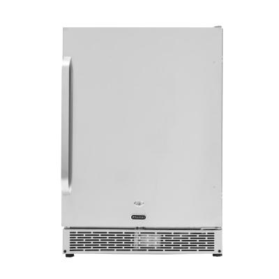 Built-in Outdoor 5.3 cu. ft. Beverage Refrigerator Full Stainless Steel Exterior with Lock and Caster Wheels