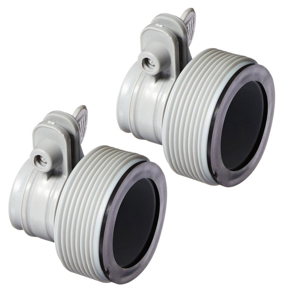 Quick Garden Type B Hose Connector KLXI Type B Pool Hose Adapters Pack of 2 Pool Pump Parts for Saltwater System
