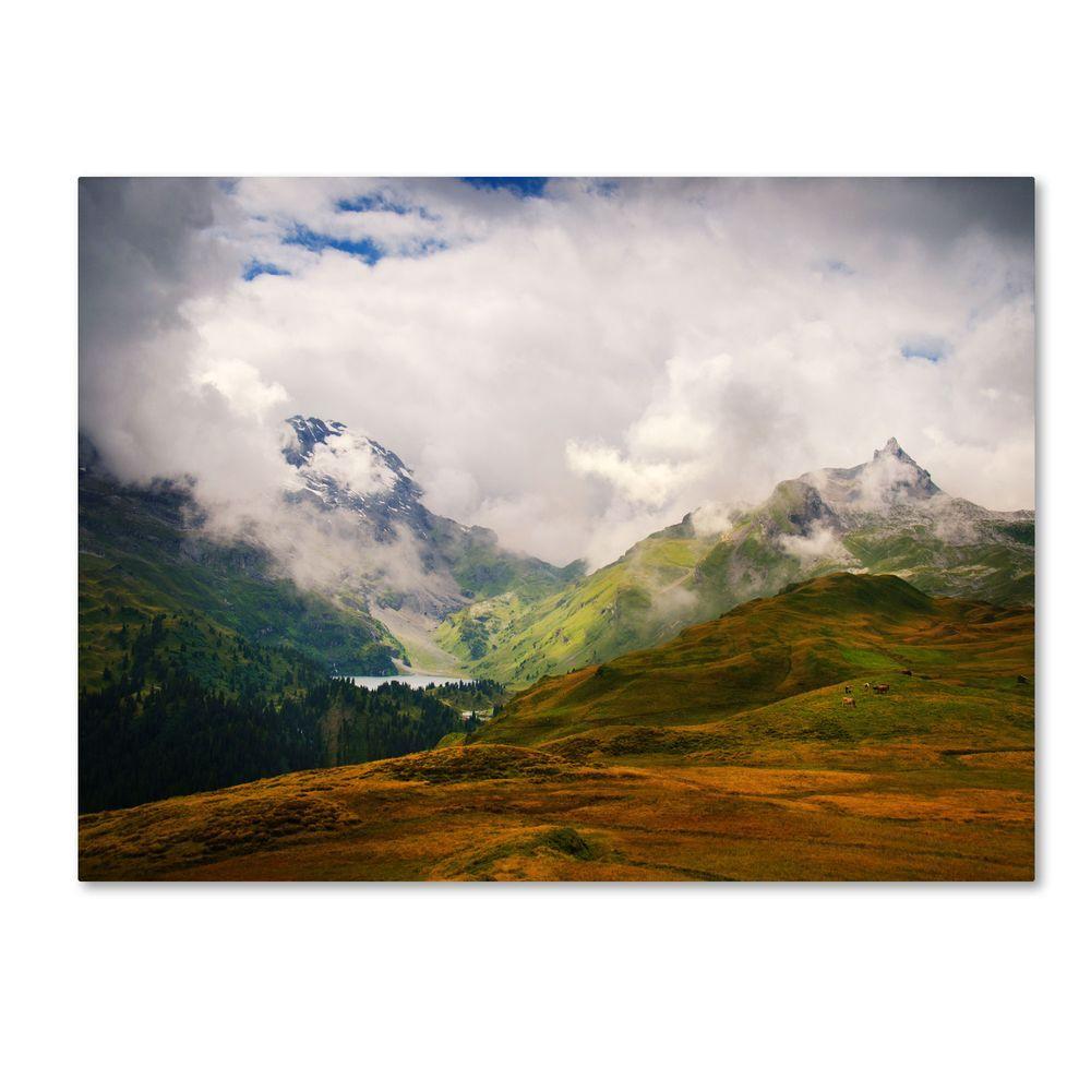Trademark Fine Art 14 in. x 19 in. Peaceful Switzerland Canvas Art