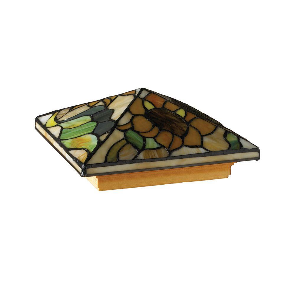 DeckoRail Tiffany Pressure-Treated 6 in. x 6 in. Pine Sunflower Pyramid Post Cap