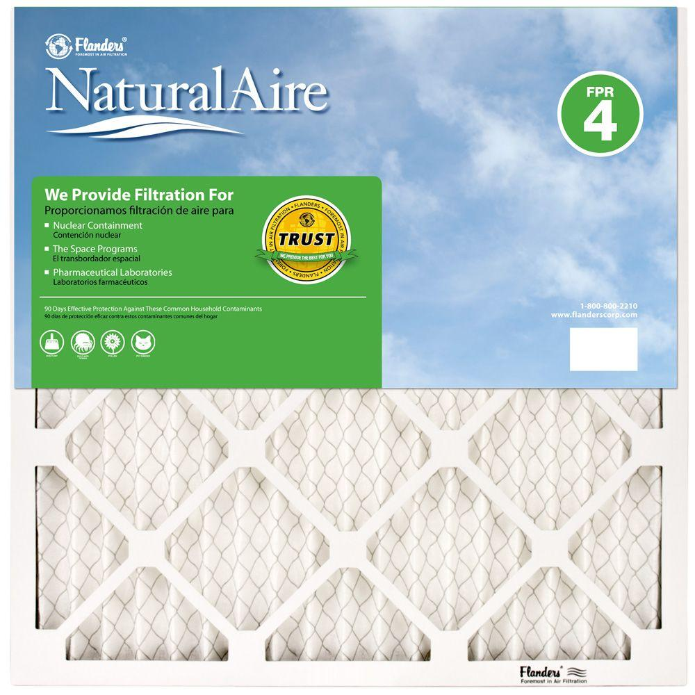 NaturalAire 14 in. x 25 in. x 1 in. Pleated FPR 4 Air Filter (Case of 12)
