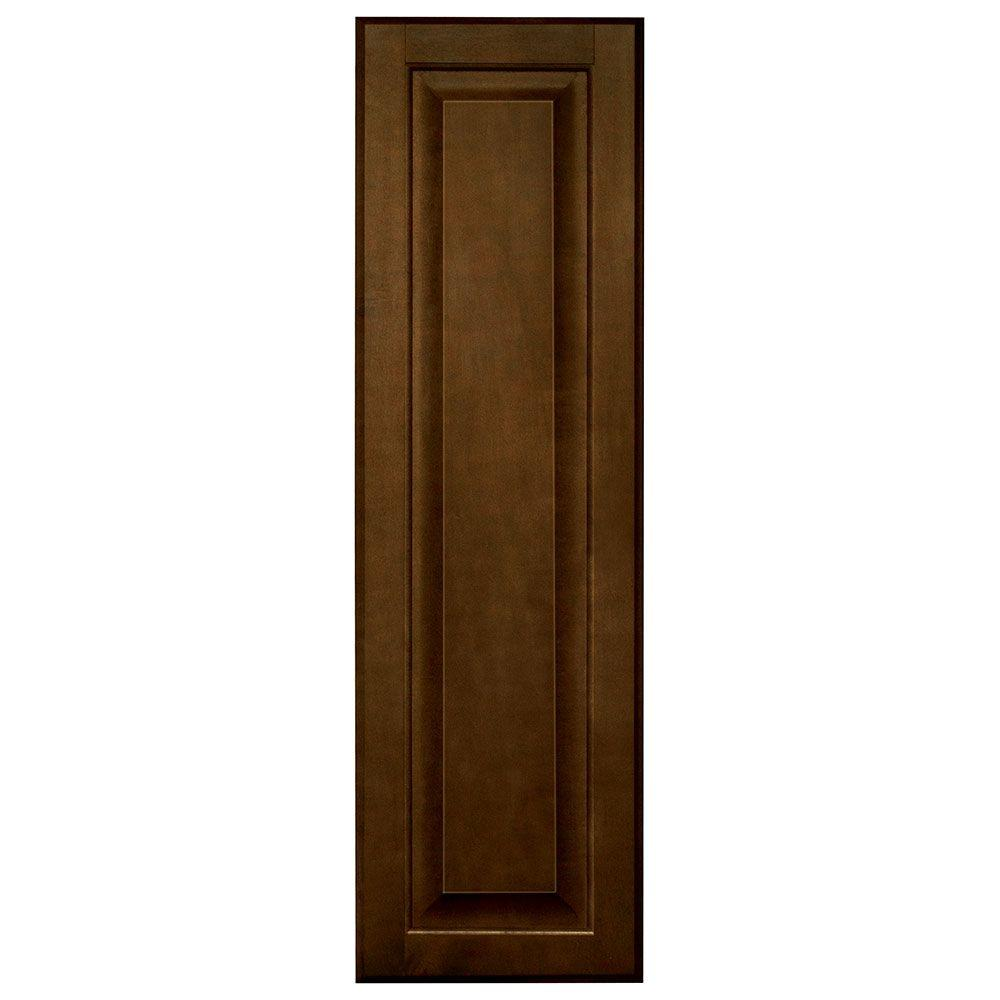 Hampton Bay 10x33.375x0.625 in. Hampton Decorative End Panel in Cognac