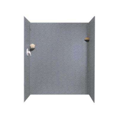 36 in. x 60 in. x 72 in. 3-Piece Easy Up Adhesive Alcove Shower Surround in Night Sky
