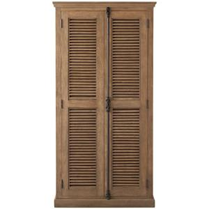 Highland Sandblasted Natural Solid Door Bookcase