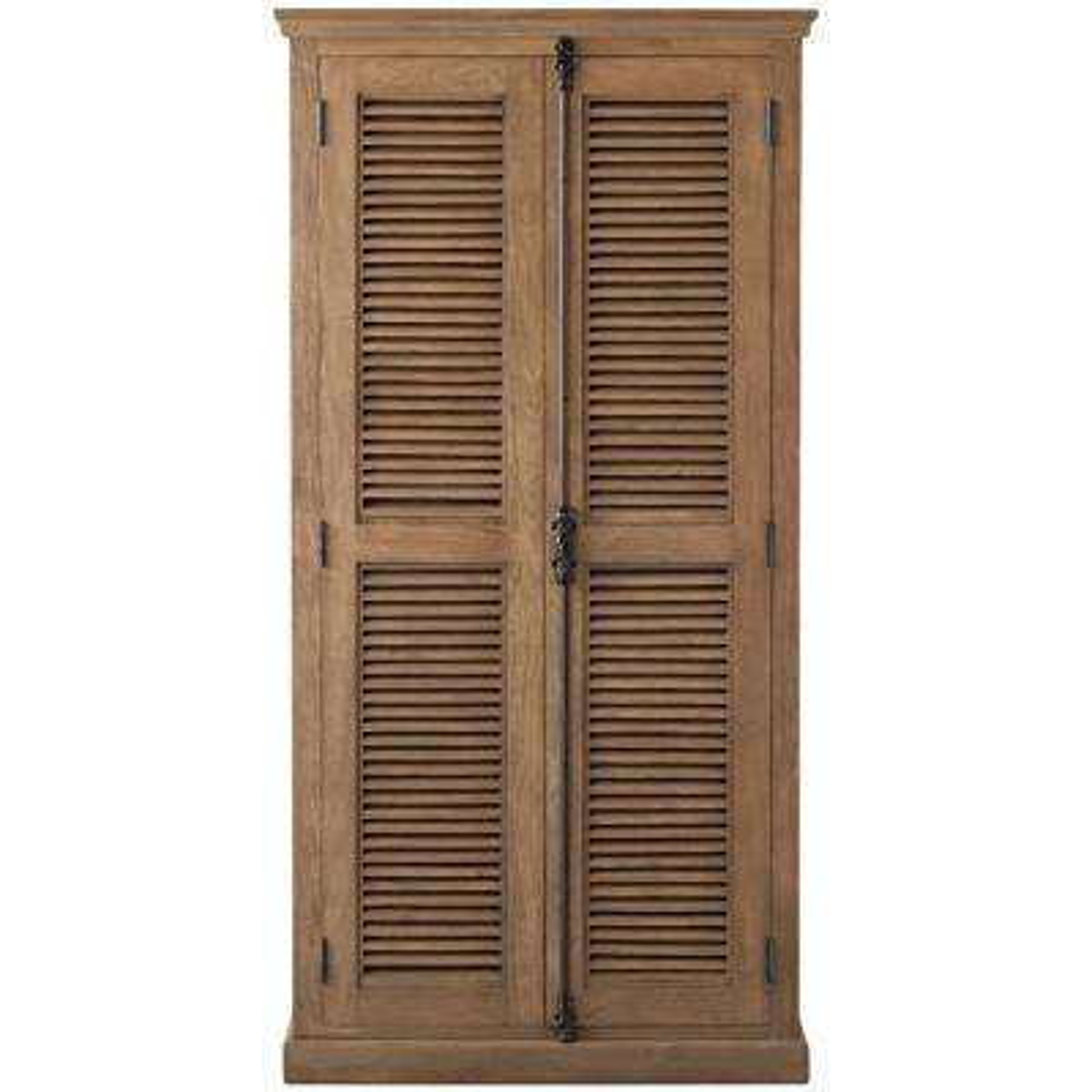 Highland Sandblasted Natural Solid Door Bookcase