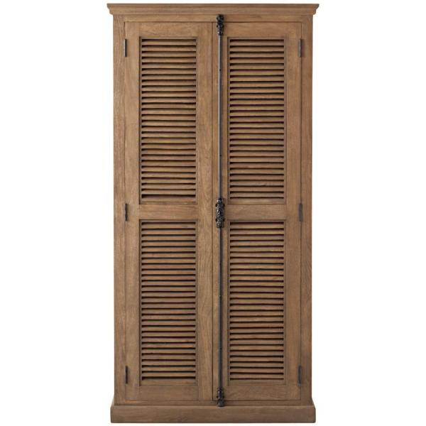 72 in. Sandblasted Natural Wood 4-shelf Standard Bookcase with Closed Storage