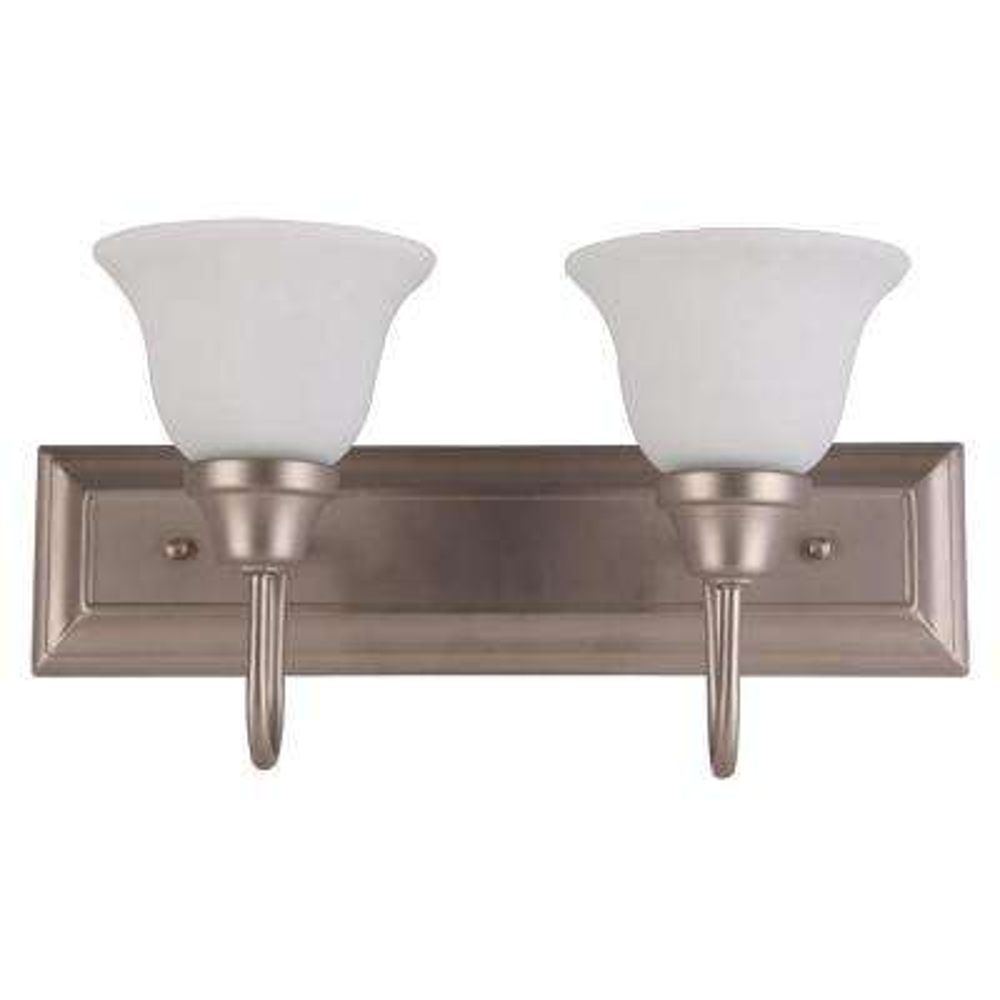 2-Light Satin Nickel Bath Light