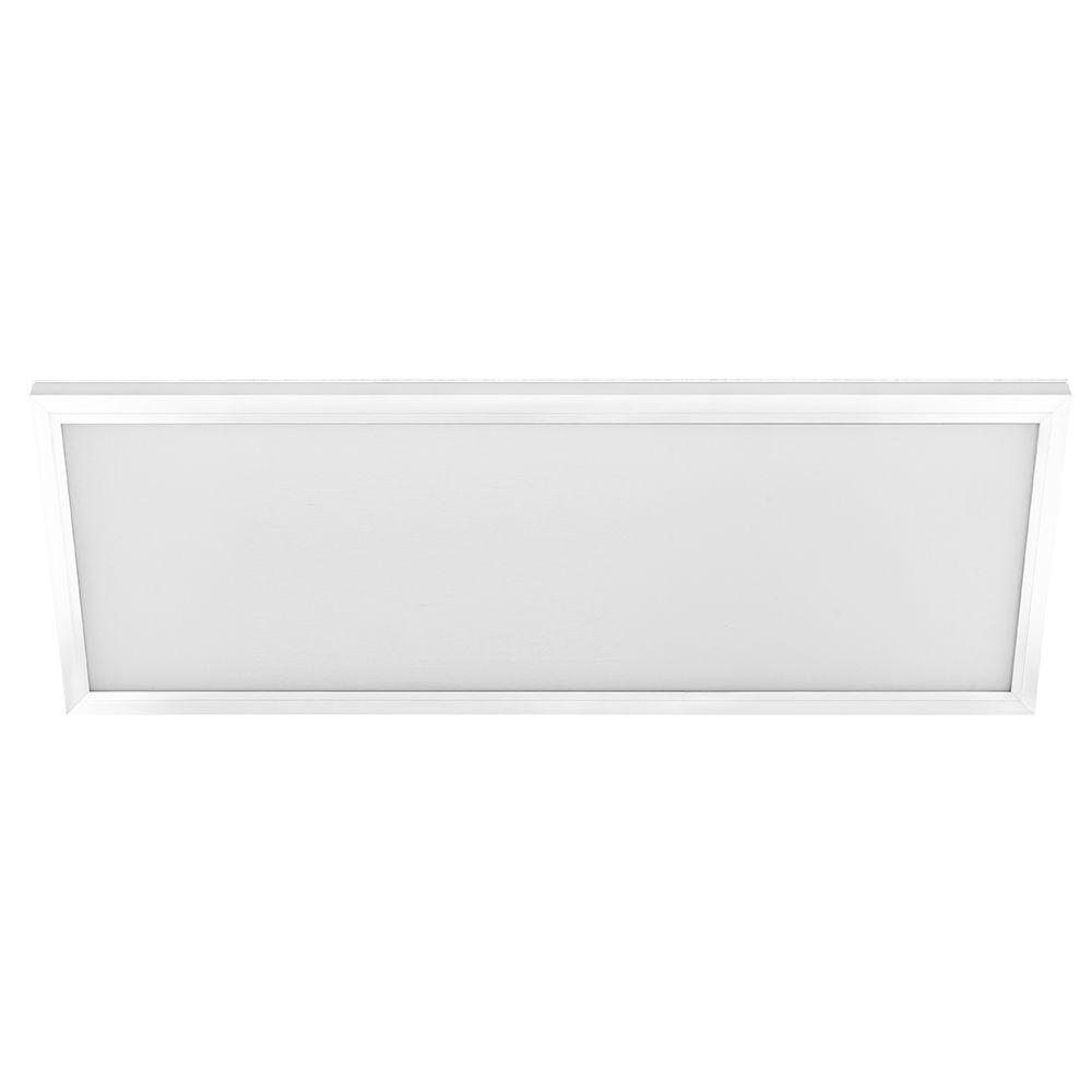 commercial electric 1 ft x 4 ft white led edge lit flat panel flushmount 74031 hd the home depot. Black Bedroom Furniture Sets. Home Design Ideas