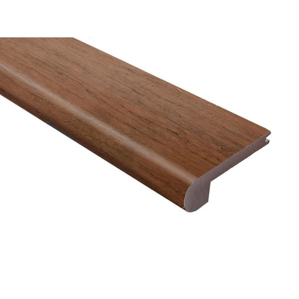 Strand Woven Bamboo Hazelnut 0 40 In Thick X 3 1 4 In Wide X 72 In Length Bamboo Flush Stair Nose Molding Hdsnf4k6ec The Home Depot