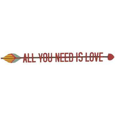 "3 in. H x 33.75 in. W ""All You Need Is Love"" Wall Art"