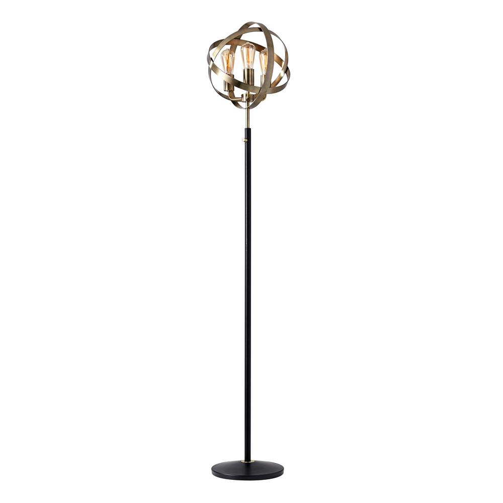 Adesso Donovan 70.5 in. Antique Brass Floor Lamp