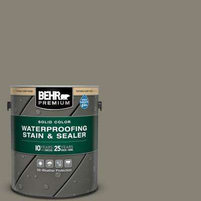 1 gal. #SC-144 Gray Seas Solid Color Waterproofing Exterior Wood Stain and Sealer