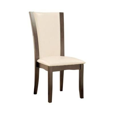 Contemporary Side Chair with White Pu (Set Of 2)