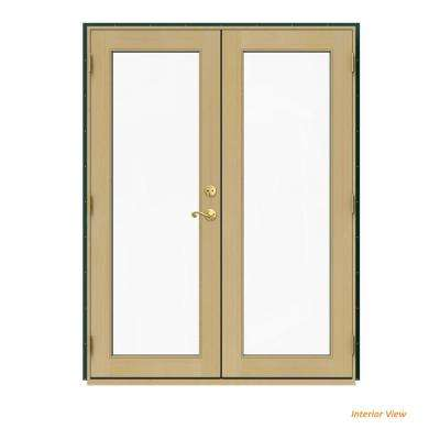 60 in. x 80 in. W-2500 Green Clad Wood Right-Hand Full Lite French Patio Door w/Unfinished Interior