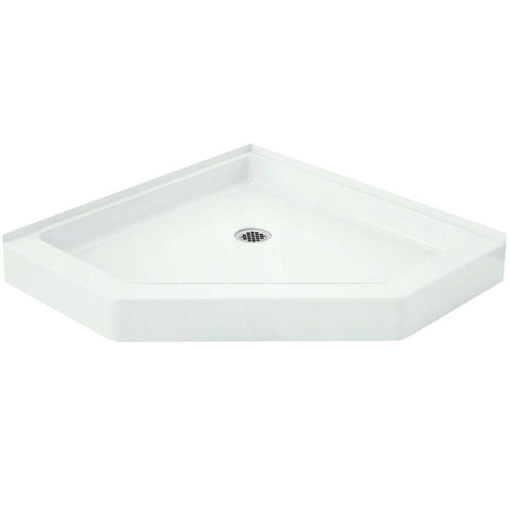 Intrigue 39 in. x 39 in. Single Threshold Shower Base in