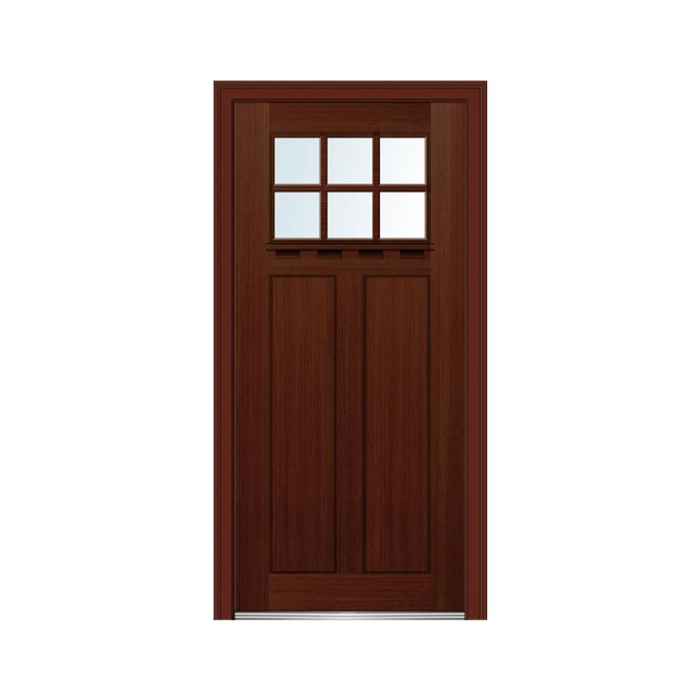 Mmi door 36 in x 80 in craftsman low e glass right hand for 6 panel glass exterior door