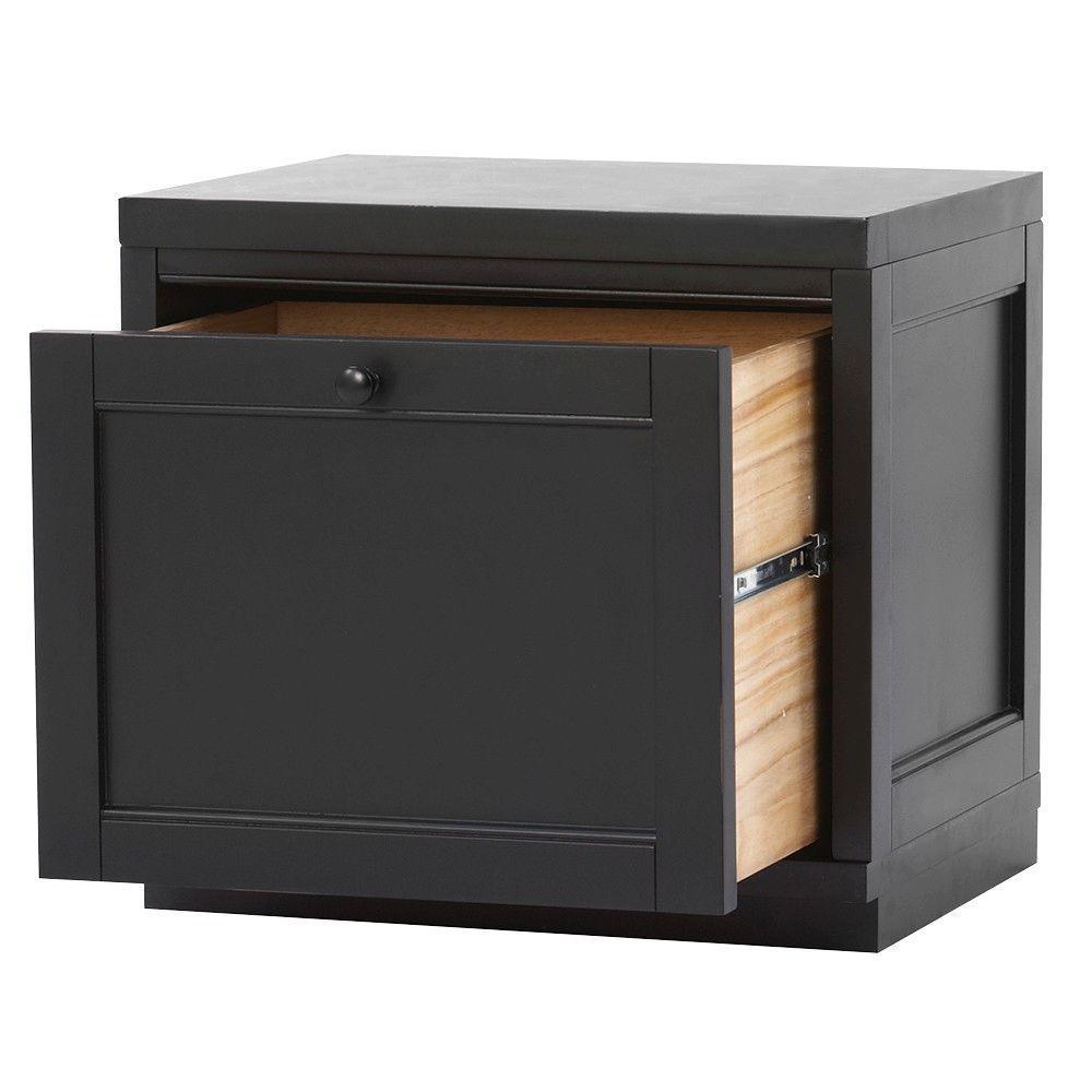 Worn Black Storage Furniture