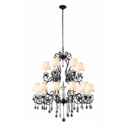 Diana 18-Light Vintage Bronze Chandelier