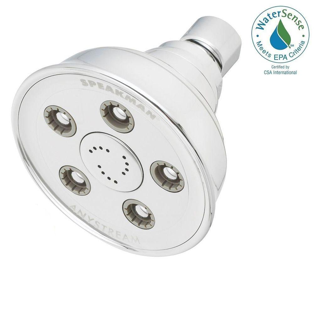 Anystream Caspian 3-Spray 3.75 in. 2.0 GPM Fixed Showerhead in Polished