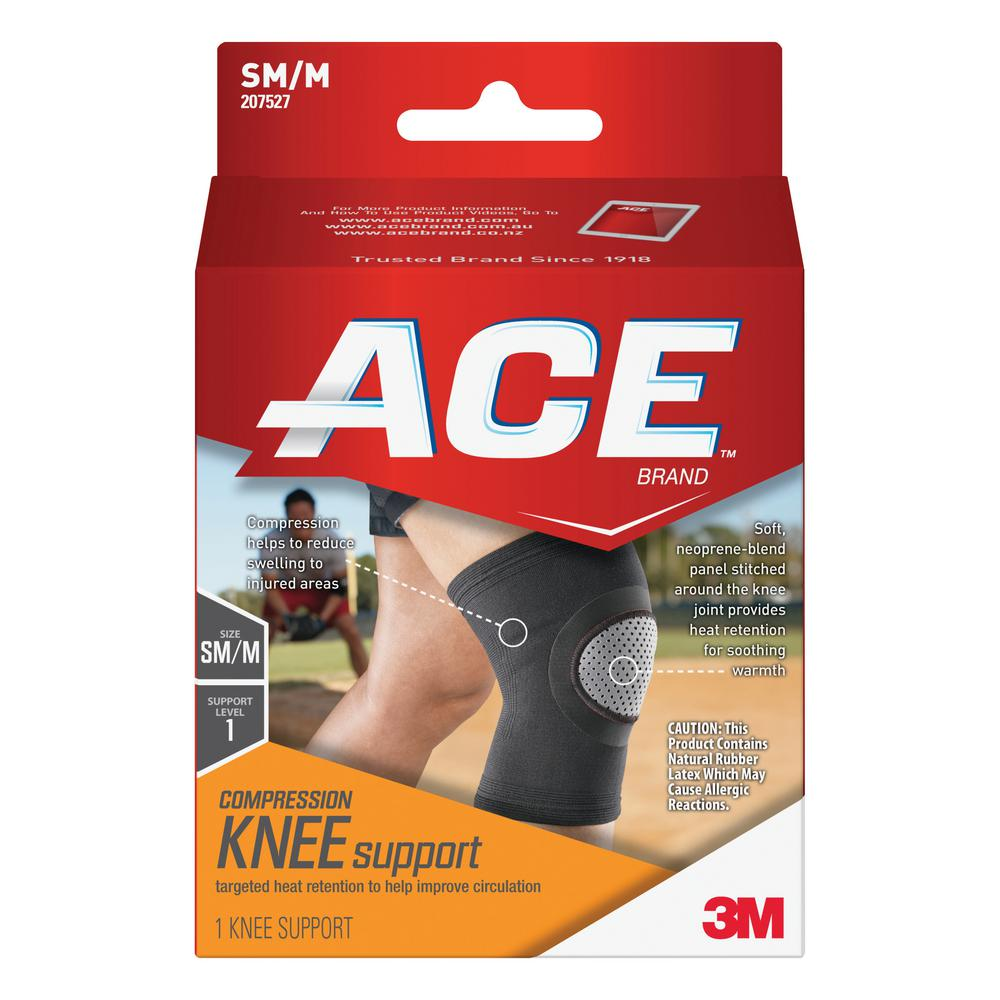 ac2511e1c Ace Small Medium Elasto-Preene Knee Support Brace in Black-207527 ...