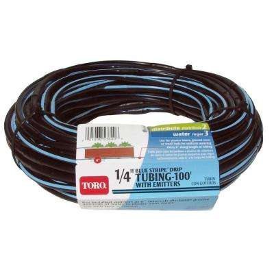 1/4 in. x 100 ft. Blue Stripe Drip Tubing with Emitters