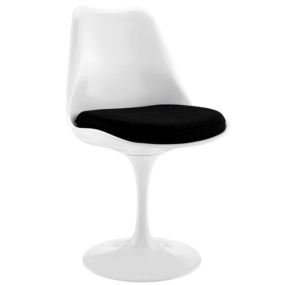 MODWAY Lippa Black Dining Fabric Side Chair