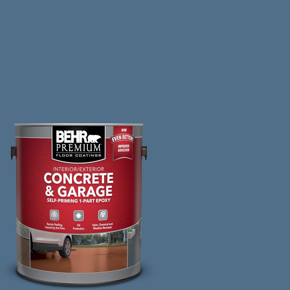 1 gal. #S520-6 Layers of Ocean Self-Priming 1-Part Epoxy Satin Interior/Exterior Concrete and Garage Floor Paint