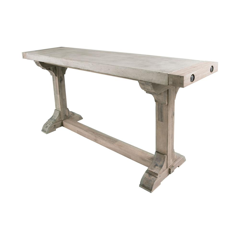 concrete and wood furniture. Titan Lighting Pirate 1-Piece Waxed Atlantic Concrete And Wood Console Table Furniture D