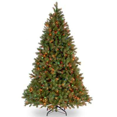 10 ft. Feel-Real Downswept Douglas Fir Hinged Artificial Christmas Tree with 1000 Multi Lights