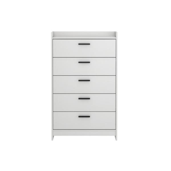 Homestar Central Park 5-Drawer Off White Chest EB208748W2
