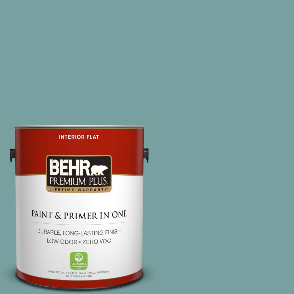 BEHR Premium Plus 1-gal. #S440-4 Tower Bridge Flat Interior Paint