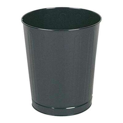 6.5 Gal. Black Round Steel Fire-Safe Trash Can