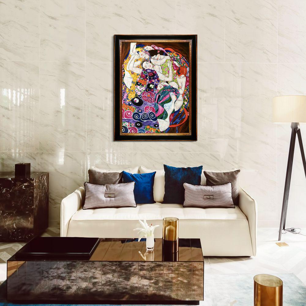 LA PASTICHE 49 in. x 39 in. The Virgin with Opulent Frame  by Gustav Klimt Framed Wall Art, Multi-Colored was $1423.0 now $668.84 (53.0% off)