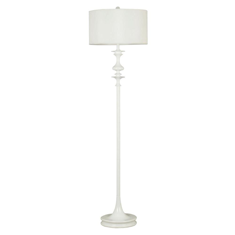 Kenroy Home Claiborne 60 in. White Gloss Floor Lamp