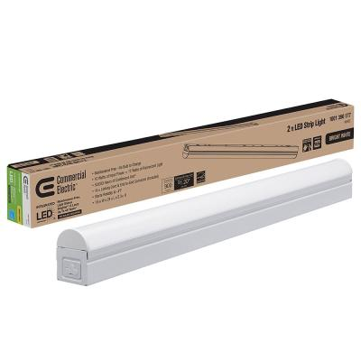 2 ft. 10-Watt Plug-in Direct Wire Integrated LED White Linkable Strip Light Fixture 900 Lumens 4000K Bright White