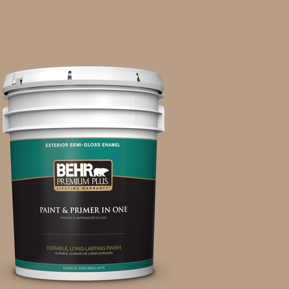 behr premium plus 5 gal icc 52 cup of cocoa semi gloss enamel exterior paint 540005 the home. Black Bedroom Furniture Sets. Home Design Ideas